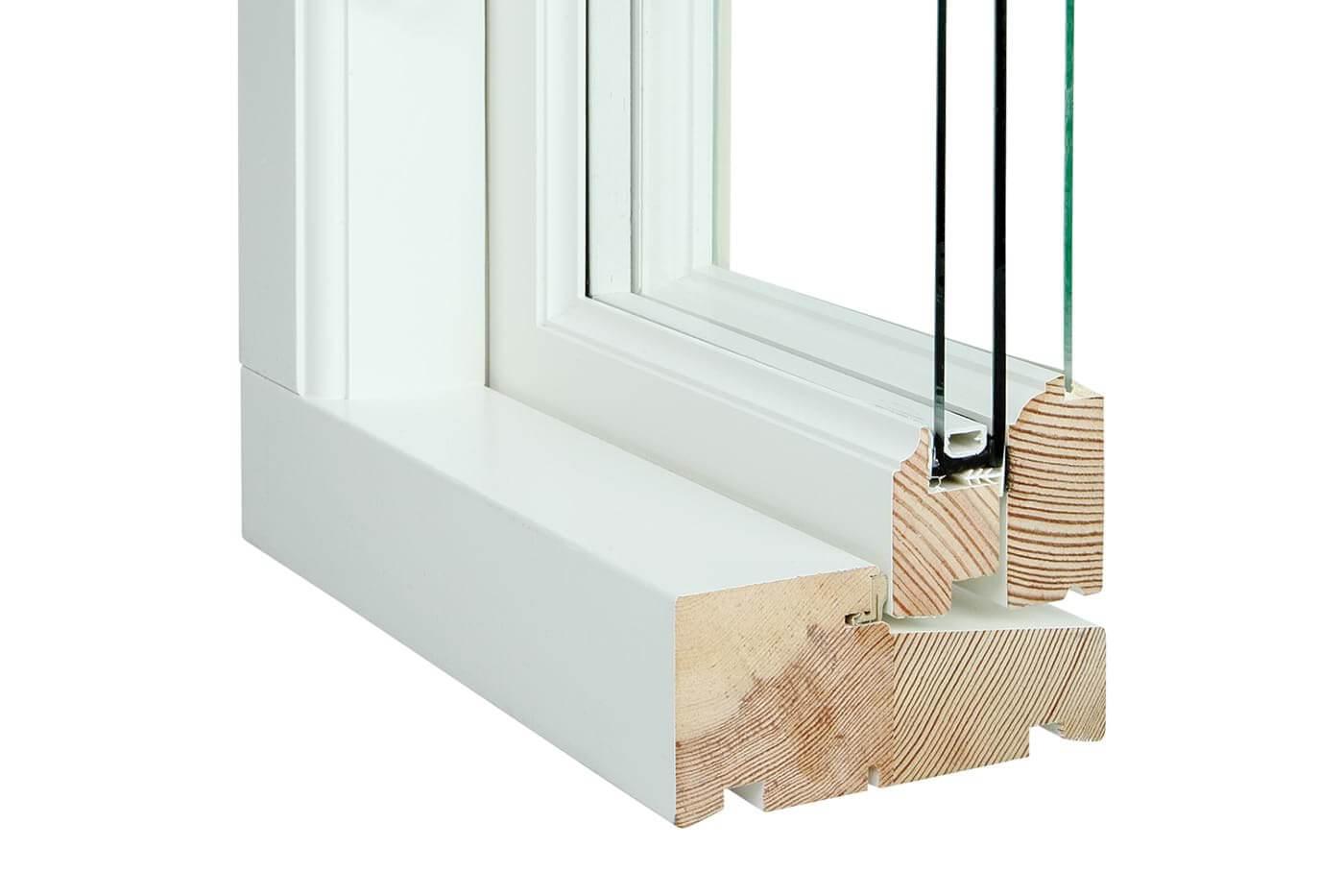 koblet vindue snit Bøjsø Døre og vinduer
